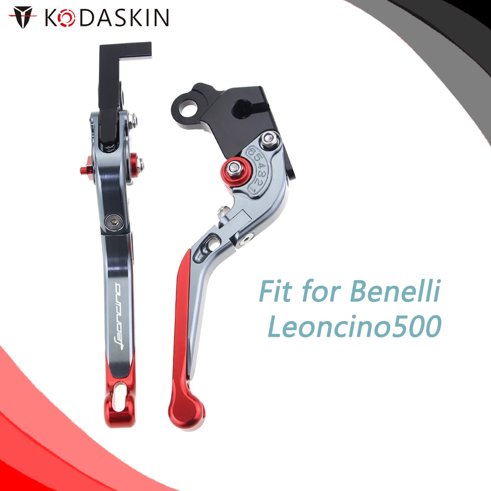 KODASKIN CNC Adjustable for Benelli Leoncino500 Folding Extendable Brake Clutch Levers