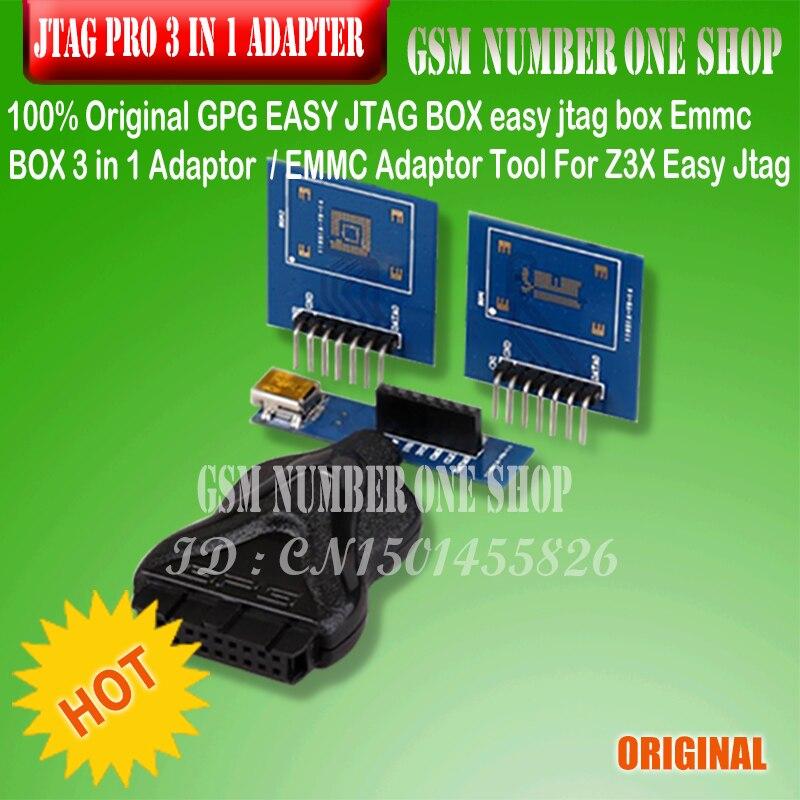 100% Original GPG EINFACH JTAG BOX einfach jtag box Emmc BOX 3 in 1 Adapter/EMMC Adapter Werkzeug Für Z3X Einfach Jtag Pro