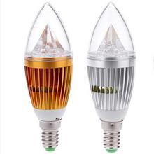 Luz de la vela LED E14 CREE Dimmable 12 W = 45 W/9 W = 35 W Bola de burbuja bombilla luz descendente de alta potencia envío gratis