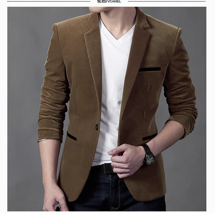 2020 men's spring and autumn corduroy leisure suit young cultivate one's morality fashion business suit