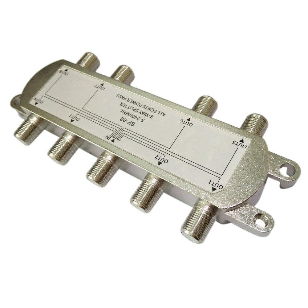 SP-08 8-Weg Signal Satellite Splitter TV Antenne RF Koaxialkabel Splitter für TV signal Splitter WholesaleHot Neue Ankunft