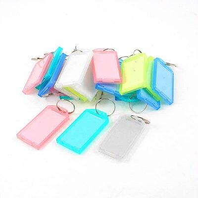 25 Pcs Cores Sortidas Portátil de Plástico Chaveiro ID Tag Conhecidos Cartão Rótulo