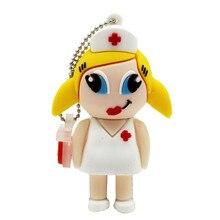 Médecin infirmière clé USB 4GB 8GB 16GB 32GB 64GB USB 2.0 mémoire stylo clé USB clés USB