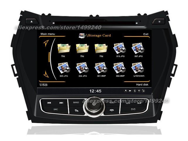 For Hyundai ix45 2013~2014 - Car GPS Navigation System + Radio TV DVD iPod BT 3G WIFI HD Screen Multimedia System