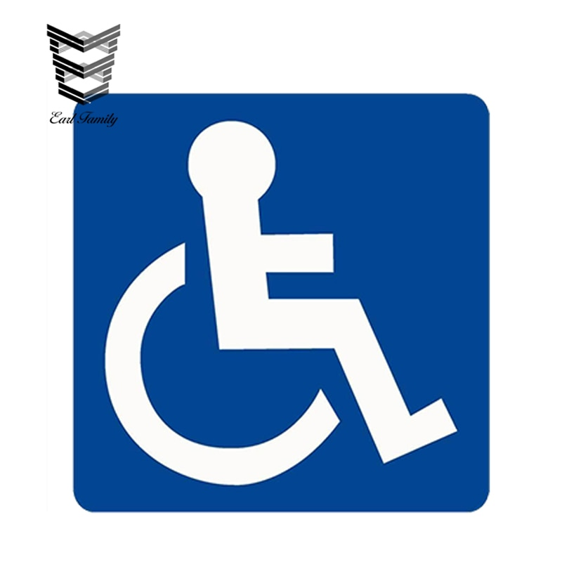 EARLFAMILY, 13cm x 13cm, diseño de coche, insignia de movilidad para discapacitados, pegatina de vinilo para ventana de parachoques de coche, accesorios impermeables para coche