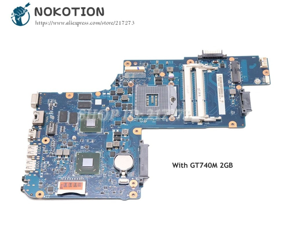 NOKOTION para Toshiba Satellite C50 C55 Laptop placa base H000061980 Tablero Principal HM76 DDR3 GT740M tarjeta de vídeo