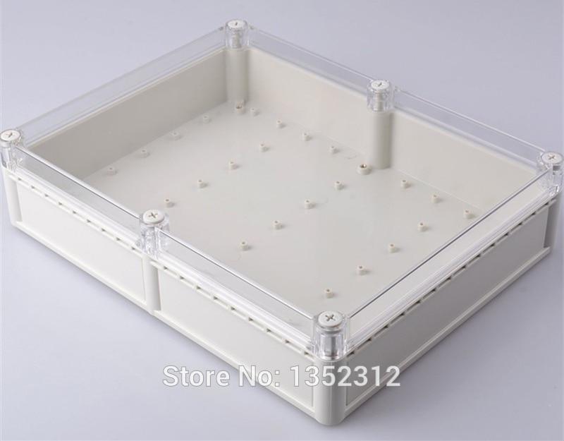 Una Uds. Caja de plástico IP68 de 331*256*77mm para caja de conexión electrónica caja de conexión PLC caja proyecto impermeable caja de control