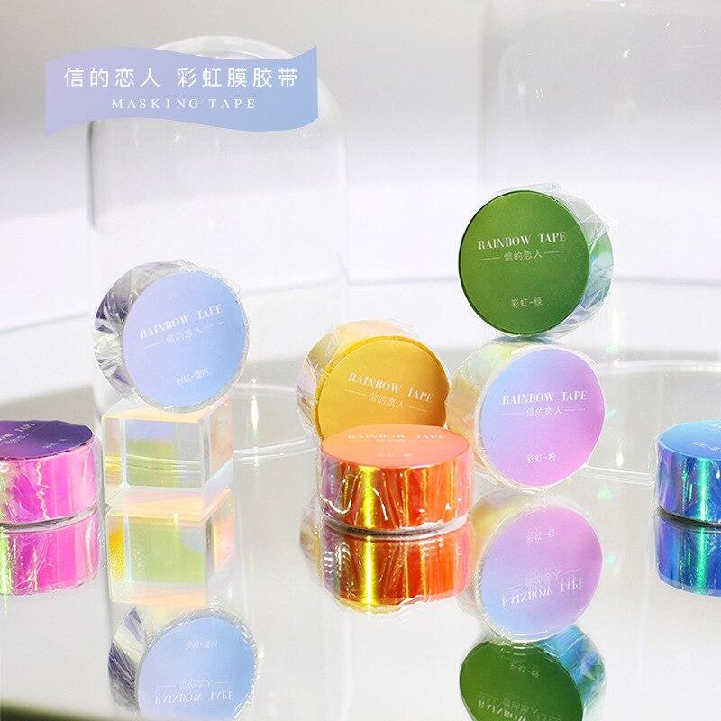 Momm PE Kawaii decoración adhesiva decorativa lámina brillante Scrapbooking Laser Washi Tape japonés papelería