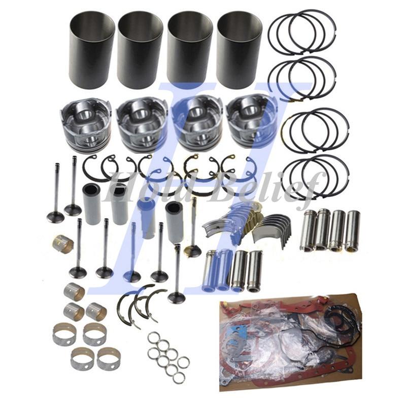 Para Kubota V1200 IDI 4 cilindro motor reparación Kit con cilindro de manga