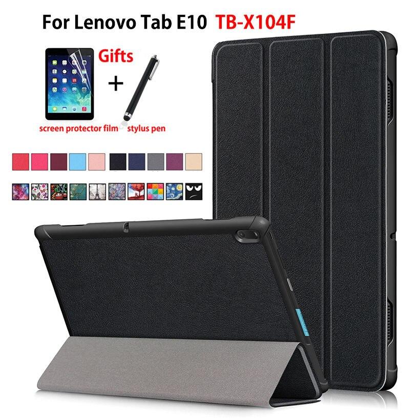 Funda para tableta Lenovo Tab E10 10,1 Funda TB-X104F TB X104F TB-X104L plegable magnética delgada Funda de cuero PU + regalos