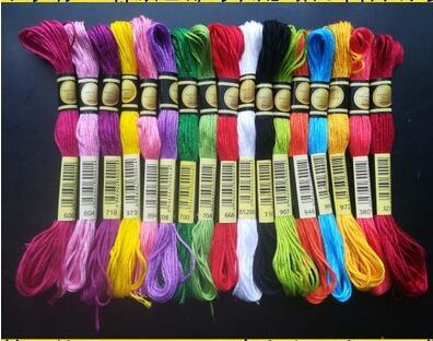 Нитки CXC simliar dmc 447 цветов в наличии вышивка/вышивка крестиком нить смешанные цвета или Выберите нужные цвета