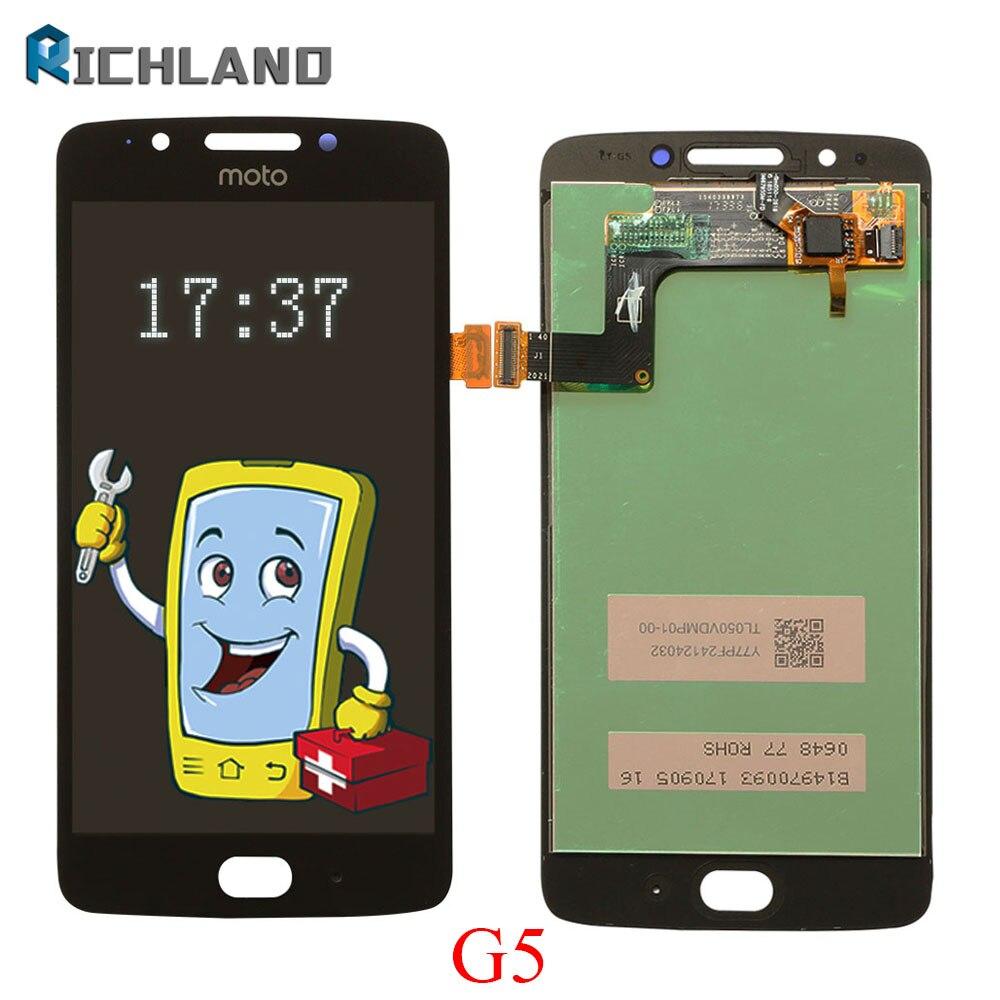 LCD para Motorola Moto G5 de pantalla táctil digitalizador Asamblea reemplazo para XT1672 XT1676 XT1670