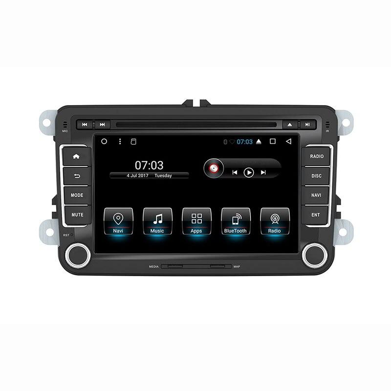 """7 """"Android estéreo de coche en coche reproductor de dvd gps de navegación para vw Jetta Golf GTI Passat Polo Caddy 16G Nand Flash Quad Core 1024*600"""