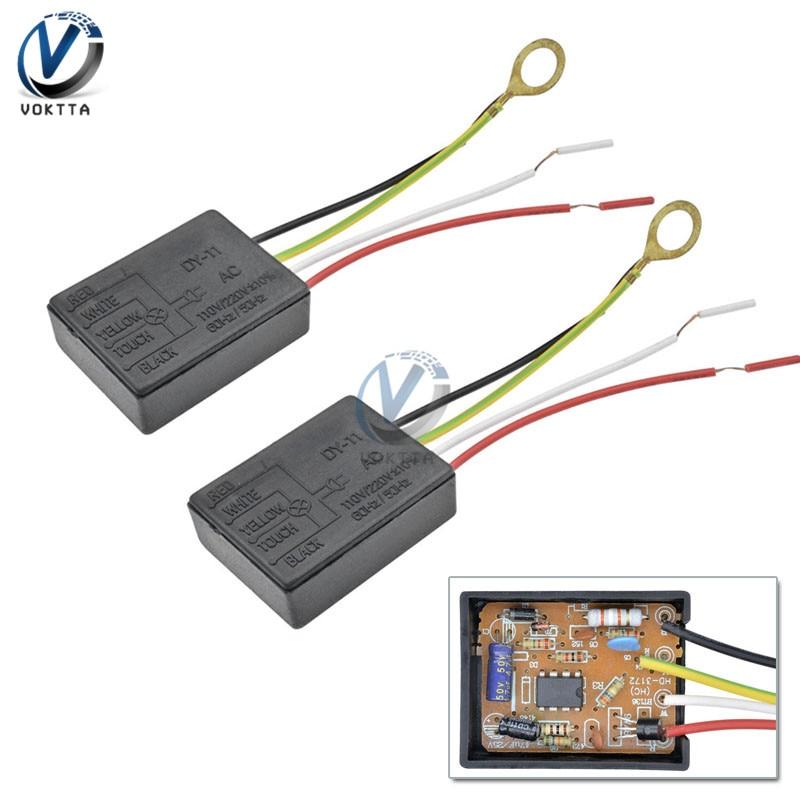 2pcs AC 100-240V 50Hz 3 Way Touch Sensor Switch Desk light Parts Touch Control Sensor Dimmer For Bulbs Sensors Lamp Switch