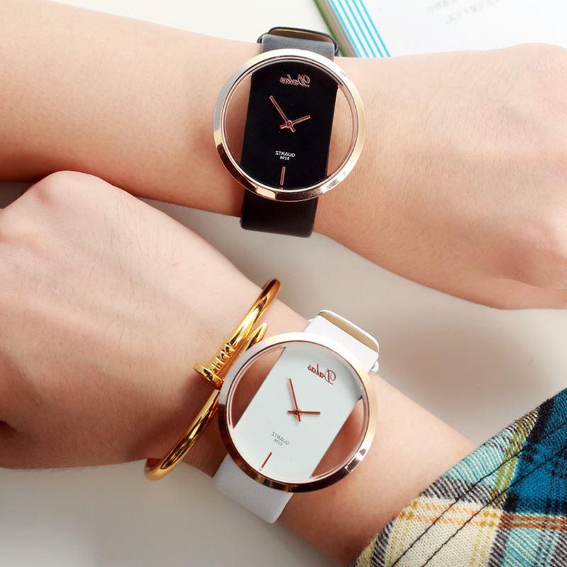 Женские кварцевые часы, из натуральной кожи, под старину, под платье