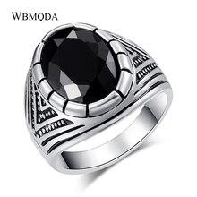 Wbmqda Bedels Zilver Kleur Zwart Vintage Ring Mannen Cool Ox Totems Stoom Punk Sieraden Gift 2018 Hot Drop Shipping