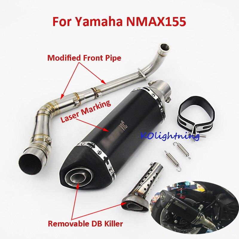 Escape del silenciador de Escape del sistema de Escape de la motocicleta para Yamaha NMAX155 NMAX125 NVX155 AEROX155