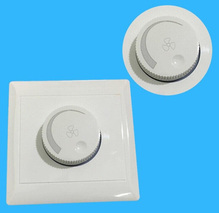 220V 10A Einstellung Decke Fan Speed Control Schalter Wand Taste Dimmer Schalter lirunzu