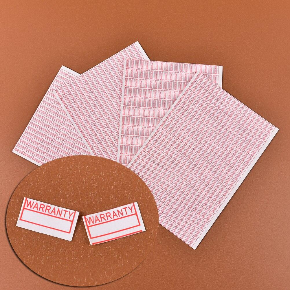 1000 штук упак. гарантия пустота, если снята наклейка, защитная печать, красный цвет, Прямоугольная форма, хрупкая этикетка, Размер 10 мм * 5 мм