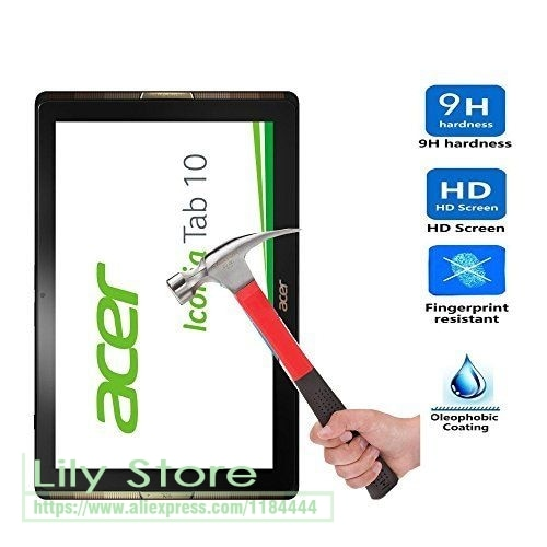 2 X vidrio templado para Acer Iconia Tab 10 A3-A40 Protector de pantalla de la tableta película Anti-explosión Protector LCD