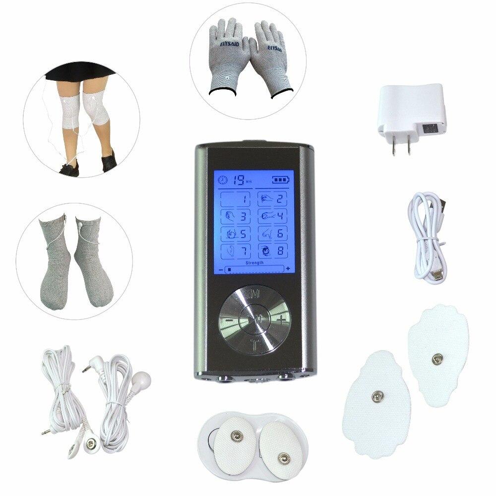 Медицинский Электрический аппарат для массажа тела, аппарат для цифровой терапии, массажер с электродом, проводящие перчатки, носки, наколе...