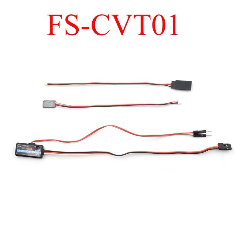 2 uds Original Flysky FS-CVT01 sensor de tensión Módulo de recolección para FSi6 FS-i10 iA6B iA10 FS-IT4S receptor piezas de control remoto