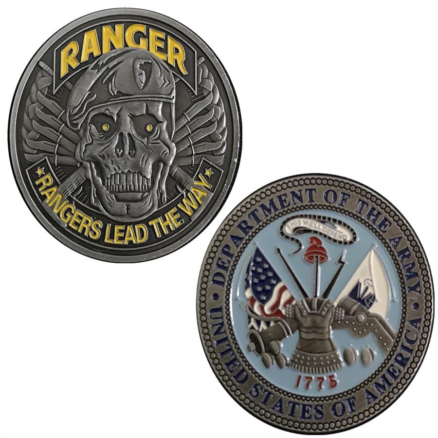 DHL envío gratis, moneda de desafío del Ejército de EE. UU. 1775 fuerte patriotismo de los Estados Unidos