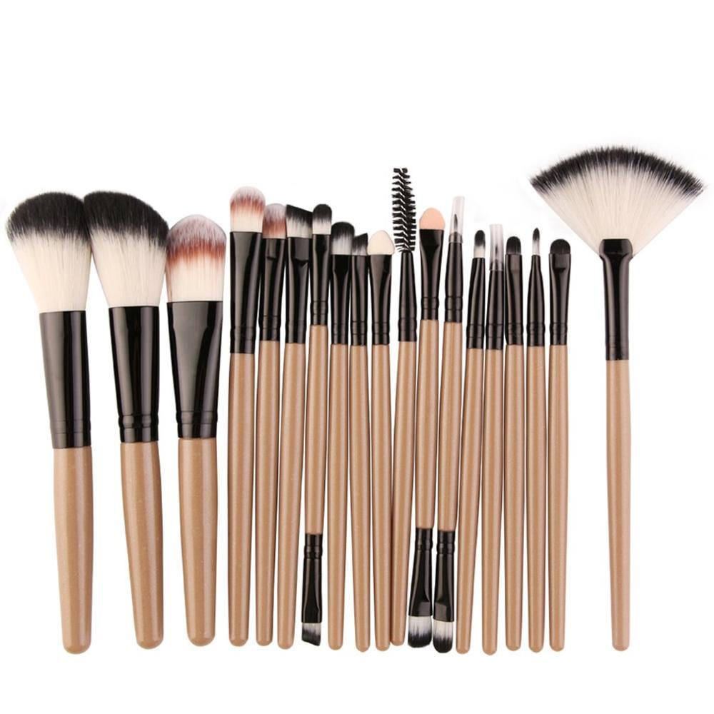 18pcs MAANGE Makeup Brushes Kit Powder Eye Shadow Foundation Blush Blending Beauty Women Cosmetic Ma