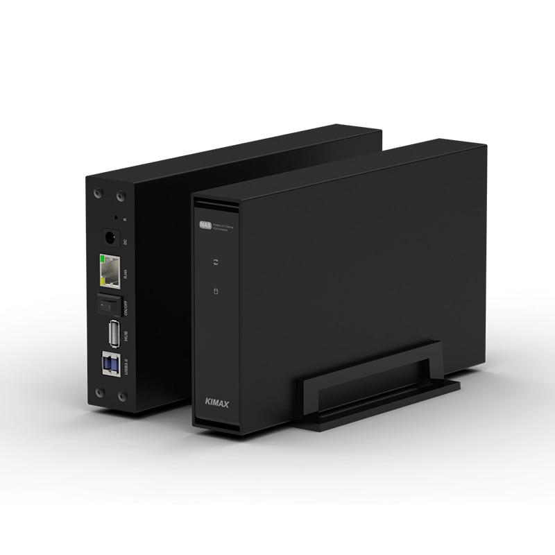 wireless NAS storage hdd enclosure 3.5'' sata RJ45 USB 3.0 PC hard disk case
