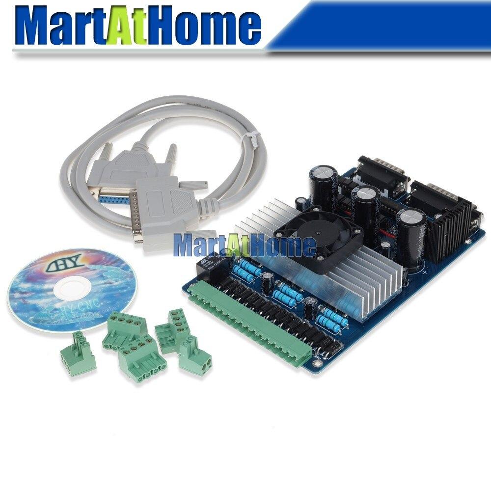 Envío Gratis CNC 3 Axis TB6560 3.5A Placa de controlador paso a paso soporte MACH3, KCAM4, EMC2 # SM394 @ CF