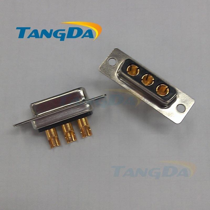 Tangda fil de soudage 3W3 broches 3V3 DB   Grand connecteur à haute intensité 3 core 3 p connecteur femelle prise à 3pin