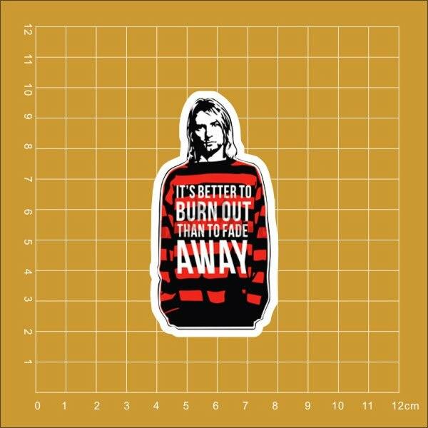 Ноутбук Nirvana Kurt Cobain, холодильник, скейтборд, сумка на колесиках, рюкзак, столы, книга, ПВХ водонепроницаемая автомобильная наклейка
