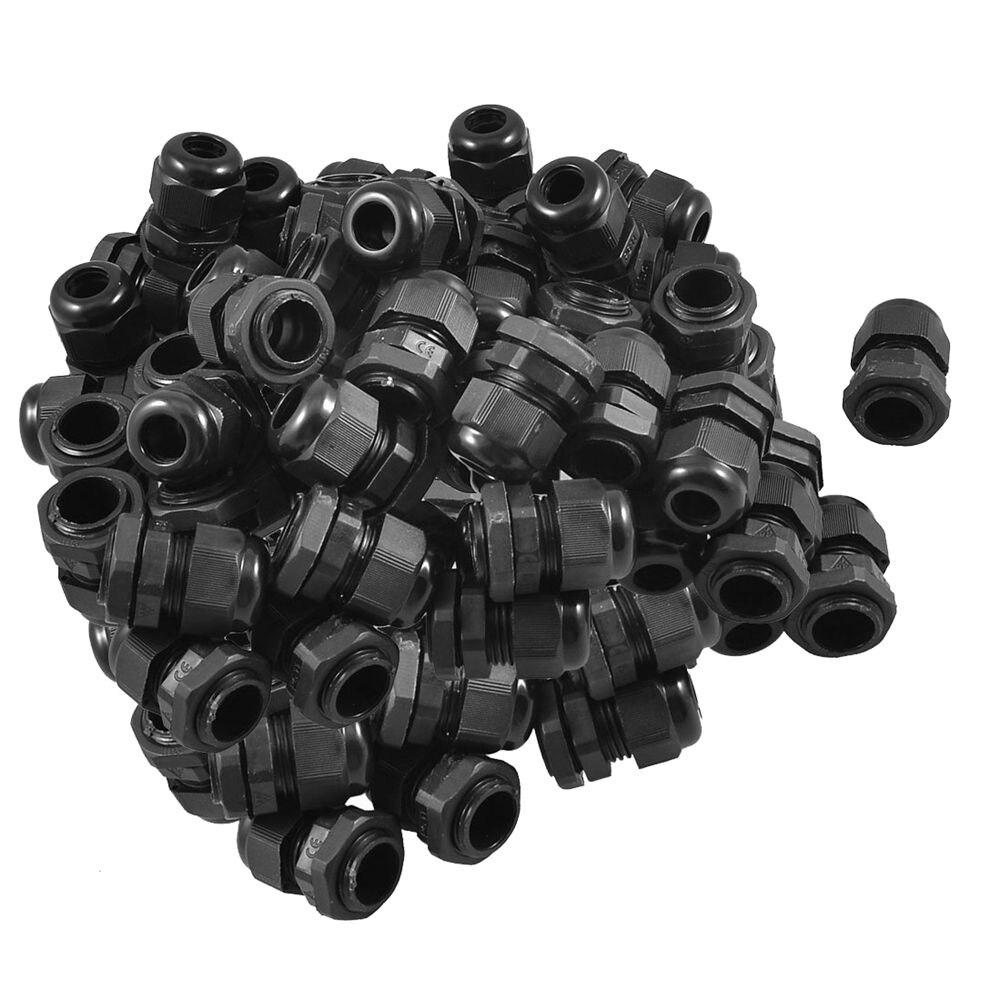 50 x Negro x conector plástico a prueba de agua PG11 5-10mm de diámetro de Cable glándula envío de la gota