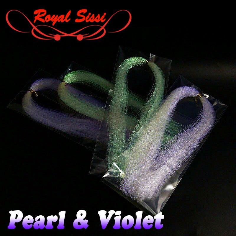 Новинка, 4 упаковки, перламутровая и фиолетовая вспышка, витая Шинель, форель, бас, стример fly, материал для завязывания, приманка для рыбалки, украшения