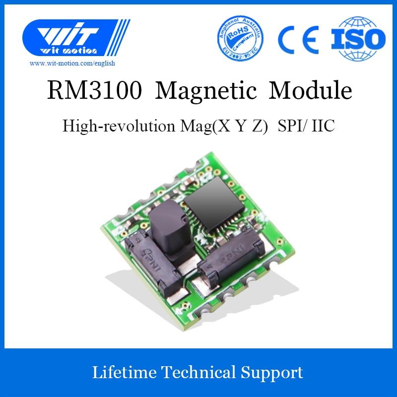 WitMotion RM3100 Sensor de campo magnético de grado militar, magnetómetro de alta precisión, brújula electrónica Digital para Arduinos y más