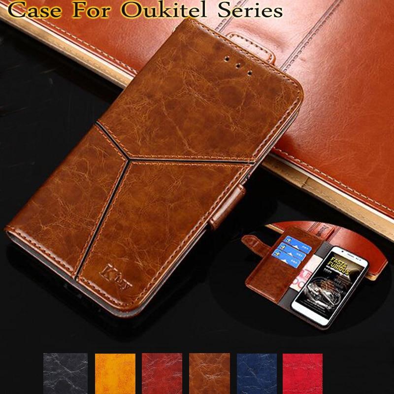 YeLun For Oukitel Mix2 K3 C8 U22 U18 U7 Plus U7 MAX U20 PLUS U15 Pro K8000 K5000 K6000 Pro Luxury Flip PU Leather Cover Coque