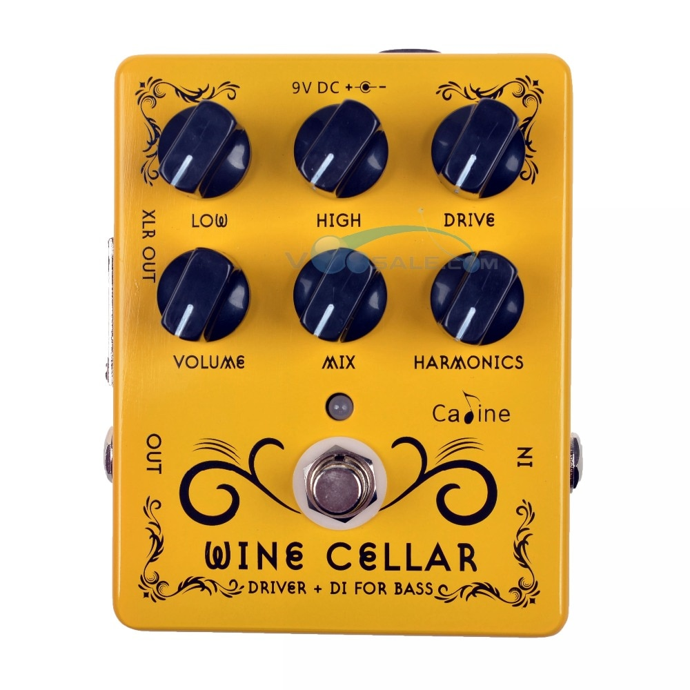 2PCS Caline CP-60 Driver+DI For Bass Guitar Pedal Effect 9V Effect Guitar Accessories Mini Pedal Guitar Parts CP60 Pedal