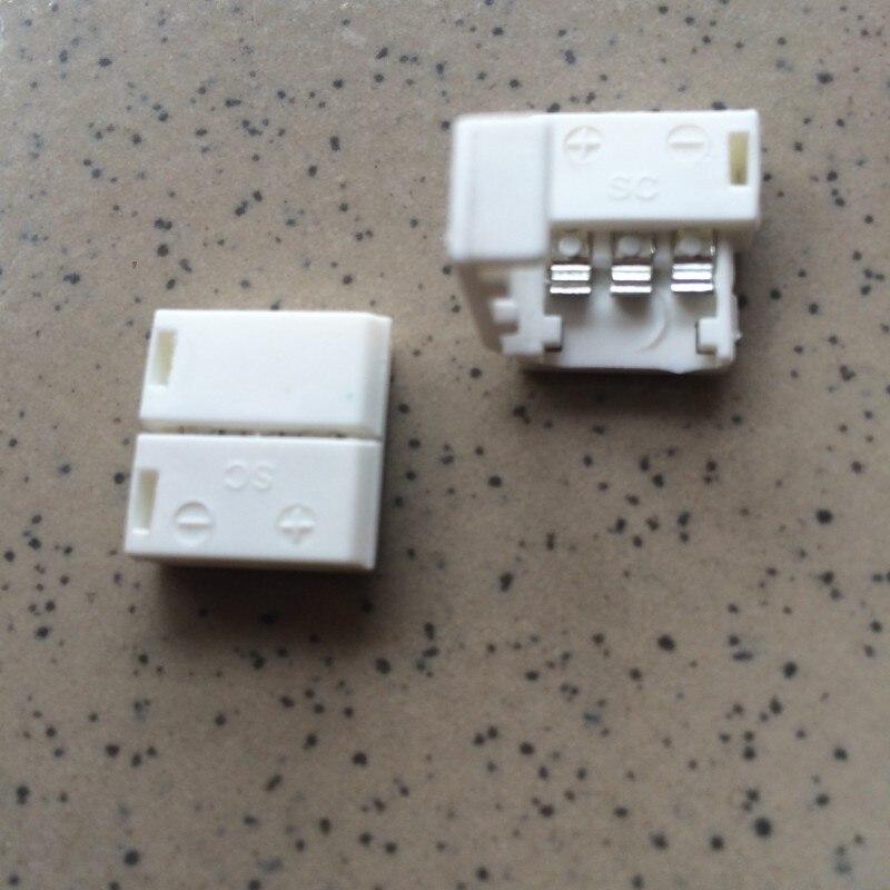 10Pcs 3 Pin Led Connector Pcb Solderless Clip Zonder Draad Gratis Verzending