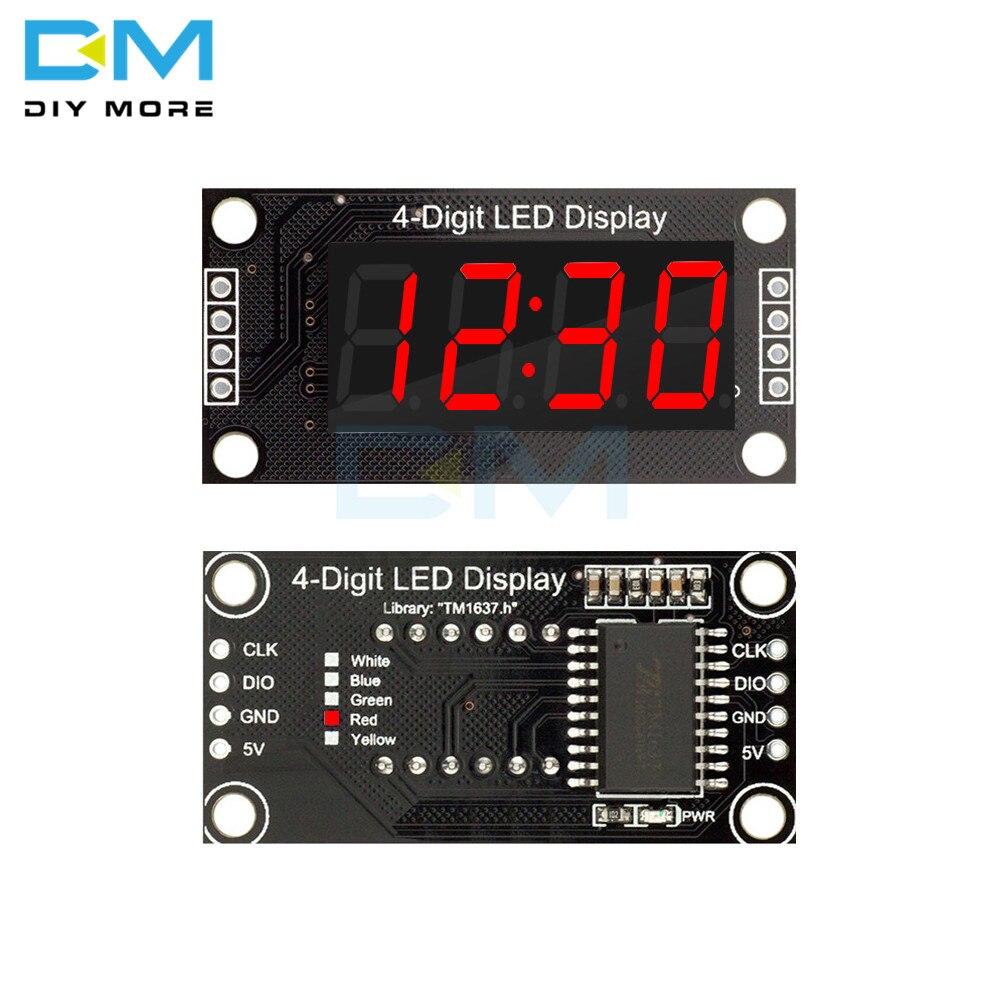 """Новое поступление TM1637 4-разрядная дисплейная плата красного цвета LED 0,36 """"экран дисплея 7 сегментов цифровой трубный модуль для Arduino"""