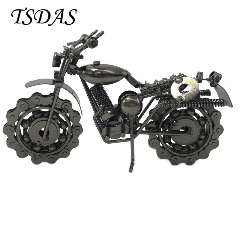 Artesanal mini modelo de metal motocicletas liga de zinco diecast brinquedos para crianças motor modelo casa decoração magia artesanato ferro