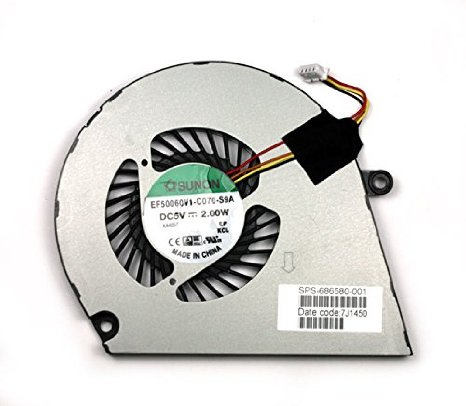 SSEA New CPU Cooling Cooler Fan for For HP ENVY4-1007TX 1008TX 1024T ENVY4 ENVY6 ENVY 6 ENVY 4 Laptop 686580-001 DFS541105FC0T