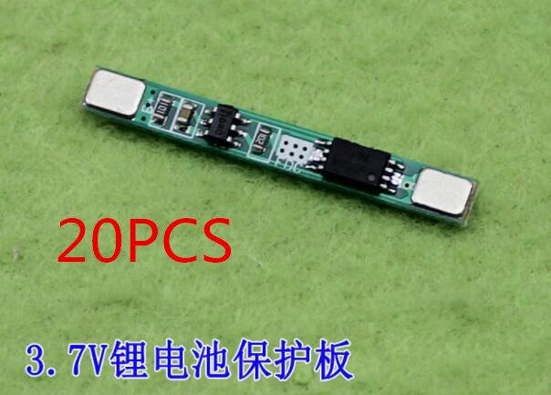 20 unids/lote 1S 3,7 V 3A li-ion BMS batería en pcm Placa de protección pcm para 18650 batería de iones de litio li