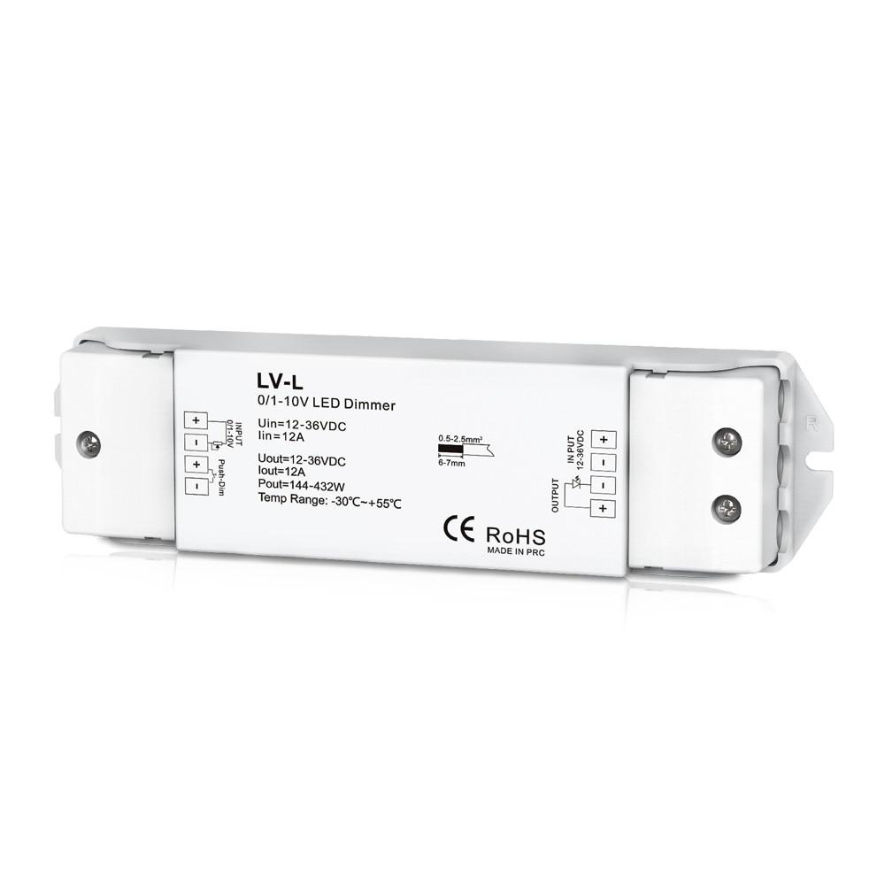 0/1-10 В светодиодный диммер 1CH 12A постоянное напряжение одноканальный светодиодный Диммируемый драйвер DC12-36V
