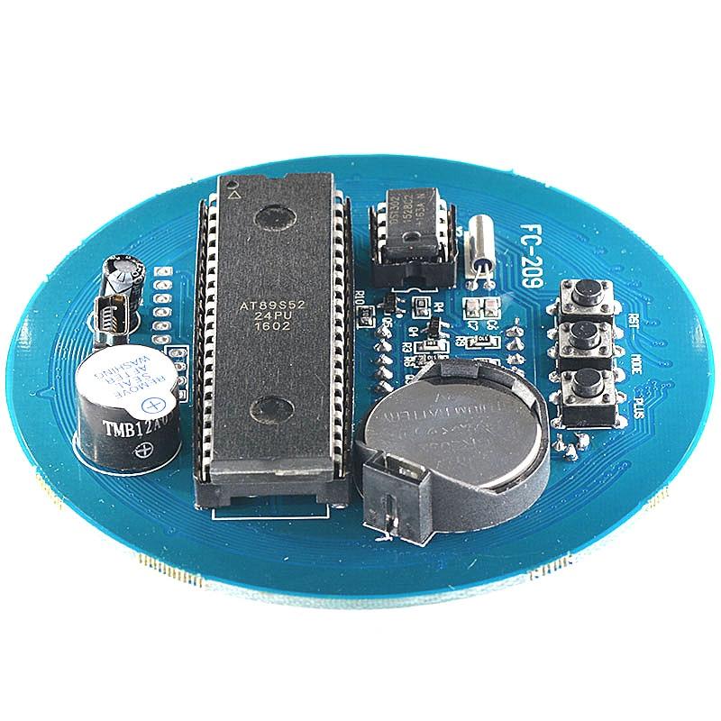 Reloj Digital giratorio DS1302, alarma Digital de Módulo De Pantalla LED, pantalla LED de temperatura, Kit DIY de tablero de aprendizaje de 5V