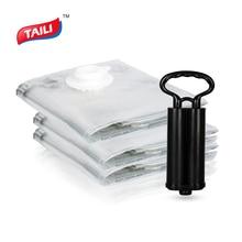 Bolsa de vacío para ropa con bomba organizador de armario guardarropa bolsa de almacenamiento de equipaje plegable bolsa de plástico de compresión para ahorrar espacio