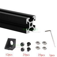 1 Set Black/silver Aluminium Metal Extrusion Profiles CREALITY CR-10 3D Printer clone Frame Kit with Nuts Screw