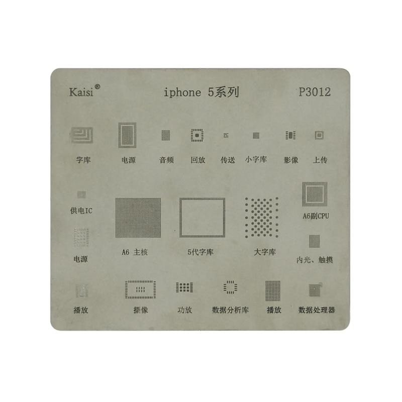Hohe qualität BGA Reballing Schablone widmen kit für iPhone5 5s 6 6S 7 8 X XS XR XS MAX Motherboard IC Chip Reballing schablonen