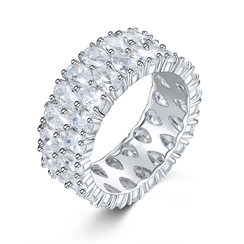 Anillo de plata, joyería fina de moda para hombres y mujeres, joyería de plata, circón brillante de lujo hsmvmbl