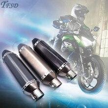 36-51mm Universal Motorcycle Exhaust Modified Muffler Pipe For Kawasaki Ninja ZX7R ZX9R ZRX1100 ZX636R Z800 Z900 Z1000