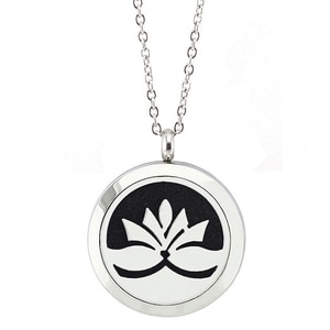 10 pcs/lot Silver Color 27mm Magnetic Locket Pendant 316L Stainless Steel Perfume Diffuser Pendant Necklace